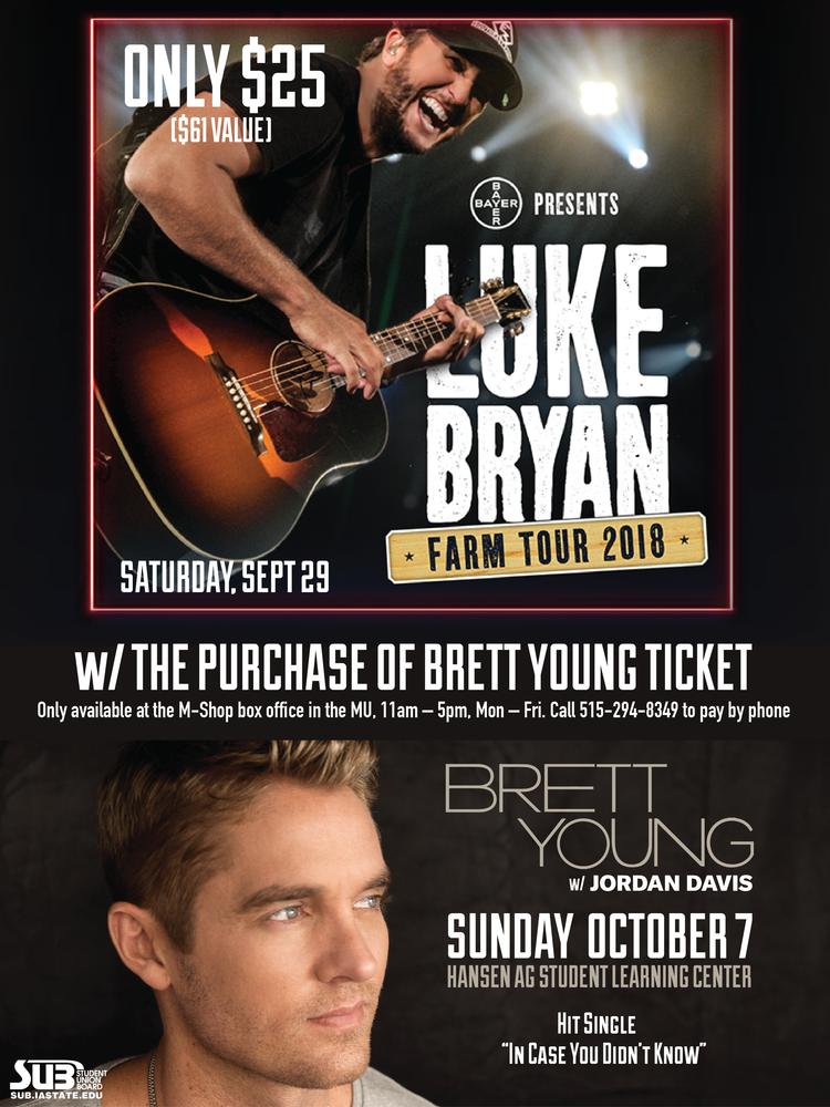 Luke bryan farm tour discount ticket student union board luke bryan farm tour discount ticket m4hsunfo